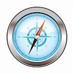 Blue icon symbol for a compass with silver dial Stock Photo - Royalty-Free, Artist: Nicemonkey                    , Code: 400-05889550