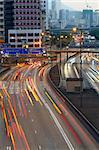 Busy traffic hour in sunset momentt Stock Photo - Royalty-Free, Artist: cozyta                        , Code: 400-05889583