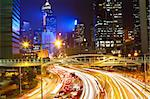 traffic night in city Stock Photo - Royalty-Free, Artist: cozyta                        , Code: 400-05889586
