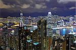 Hong Kong skyline at night Stock Photo - Royalty-Free, Artist: leungchopan                   , Code: 400-05889678