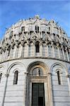 Closeup of Pisa Baptistery at the Miracle Square. Italy Stock Photo - Royalty-Free, Artist: kvkirillov                    , Code: 400-05890191