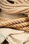 Thick and thin natural fiber rope Stock Photo - Royalty-Free, Artist: gorgev                        , Code: 400-05891575