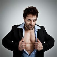 An image of a business man with muscles Stock Photo - Royalty-Freenull, Code: 400-05891900