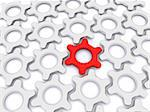 gears leadership. 3d Stock Photo - Royalty-Free, Artist: sad444                        , Code: 400-05893685