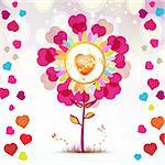 Valentine's day card with butterflies Stock Photo - Royalty-Free, Artist: Merlinul                      , Code: 400-05894173