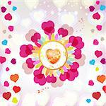 Valentine's day card with butterflies Stock Photo - Royalty-Free, Artist: Merlinul                      , Code: 400-05894174