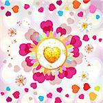 Valentine's day card with butterflies Stock Photo - Royalty-Free, Artist: Merlinul                      , Code: 400-05894175