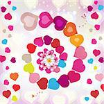 Valentine's day card with butterflies Stock Photo - Royalty-Free, Artist: Merlinul                      , Code: 400-05894177