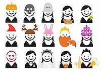 celebration people, vector icon set Stock Photo - Royalty-Freenull, Code: 400-05894196