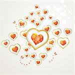 Valentine's day card with butterflies Stock Photo - Royalty-Free, Artist: Merlinul                      , Code: 400-05894209