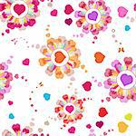 Seamless pattern with hearts and butterflies for Valentine's day Stock Photo - Royalty-Free, Artist: Merlinul                      , Code: 400-05894220