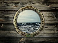sailing boat storm - porthole with view at the sea Stock Photo - Royalty-Freenull, Code: 400-05895013