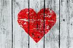 love symbol on old wooden wall background Stock Photo - Royalty-Free, Artist: didesign                      , Code: 400-05895106