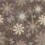 Vintage art vector flower seamless pattern background. Fabric texture. Floral design. Pretty cute wallpaper. Romantic cartoon feminine tile. Stock Photo - Royalty-Free, Artist: svetap                        , Code: 400-05896033