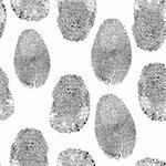 Vector thumb print background. Thumbprint, fingerprint seamless wallpaper. Crime, dactylography illustration. Stock Photo - Royalty-Free, Artist: svetap                        , Code: 400-05896042