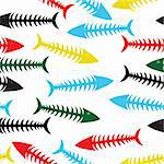 Fishbone background. Vector fish bone seamless illustration. Sea wallpaper Stock Photo - Royalty-Free, Artist: svetap                        , Code: 400-05896043
