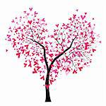 Abstract vector heart tree, Valentine Day. Love, wedding background Stock Photo - Royalty-Free, Artist: svetap                        , Code: 400-05896064