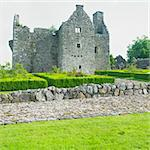 ruins of Tully Castle, County Fermanagh, Northern Ireland