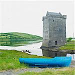 Rockfleet Castle, County Mayo, Ireland Stock Photo - Royalty-Free, Artist: phbcz                         , Code: 400-05897069