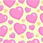 Seamless background with hearts 2 - vector illustration. Stock Photo - Royalty-Free, Artist: clairev                       , Code: 400-05897112