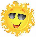 Sun theme image 2 - vector illustration. Stock Photo - Royalty-Free, Artist: clairev                       , Code: 400-05897118