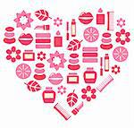 Stylized pink heart. Vector illustration. Stock Photo - Royalty-Free, Artist: lordalea                      , Code: 400-05897175
