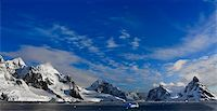 Beautiful snow-capped mountains against the blue sky in Antarctica Stock Photo - Royalty-Freenull, Code: 400-05899530