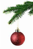 Christmas ornament on the tree Stock Photo - Royalty-Freenull, Code: 400-05899715