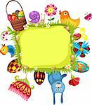 vector illustration of a easter card Stock Photo - Royalty-Free, Artist: nem4a                         , Code: 400-05900127