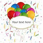 Balloons with text space for cards and invitations Stock Photo - Royalty-Free, Artist: soleilc                       , Code: 400-05900894