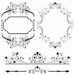 Border and frame designs for cards or invitations Stock Photo - Royalty-Free, Artist: soleilc                       , Code: 400-05900896