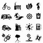 Recycling, eco, green environment and clean energy icon set Stock Photo - Royalty-Free, Artist: soleilc                       , Code: 400-05900898