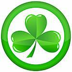 green shamrock as a symbol of St. Patrick's Day Isolated on white background Stock Photo - Royalty-Free, Artist: rodakm                        , Code: 400-05901559