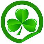 green shamrock as a symbol of St. Patrick's Day Isolated on white background Stock Photo - Royalty-Free, Artist: rodakm                        , Code: 400-05901563