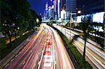 traffic in city at night Stock Photo - Royalty-Free, Artist: leungchopan                   , Code: 400-05901635