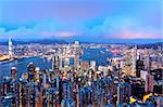 Hong Kong night Stock Photo - Royalty-Free, Artist: leungchopan                   , Code: 400-05901668