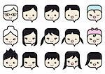 various women and men, vector people icon set
