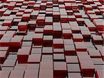 3d illustration of red blocks abstract background