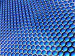 3d illustration of blue technology background