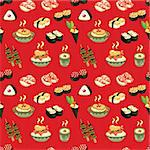 seamless Japanese food pattern Stock Photo - Royalty-Free, Artist: notkoo2008                    , Code: 400-05902472