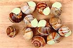 snails (french gourmet food) as nice background Stock Photo - Royalty-Free, Artist: jonnysek                      , Code: 400-05902561