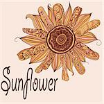 vector hand drawn sunflower Stock Photo - Royalty-Free, Artist: alexmakarova                  , Code: 400-05902663