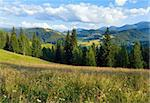 Summer mountain landscape with flowering grassland in front Stock Photo - Royalty-Free, Artist: Yuriy                         , Code: 400-05904004