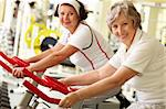 Portrait of two senior women in gym Stock Photo - Royalty-Free, Artist: pressmaster                   , Code: 400-05904092