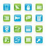 Communication and Technology icons - Vector Icon Set Stock Photo - Royalty-Free, Artist: stoyanh                       , Code: 400-05904217