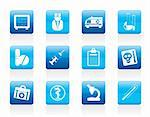 Medical and healthcare Icons Vector Icon Set Stock Photo - Royalty-Free, Artist: stoyanh                       , Code: 400-05904231
