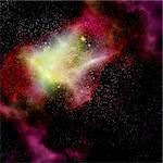 deep outer space gas cloud nebula galaxy and stars Stock Photo - Royalty-Free, Artist: clearviewstock                , Code: 400-05904663
