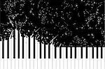 Vector piano keyboard on black background (illustration) Stock Photo - Royalty-Free, Artist: Chisnikov                     , Code: 400-05905166