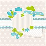 abstract cute vector baby frame design elements Stock Photo - Royalty-Free, Artist: SelenaMay                     , Code: 400-05905253
