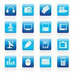 Media equipment icons - vector icon set Stock Photo - Royalty-Free, Artist: stoyanh                       , Code: 400-05905609